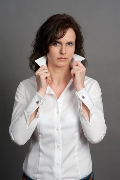 damen bluse mit doppelmanschette